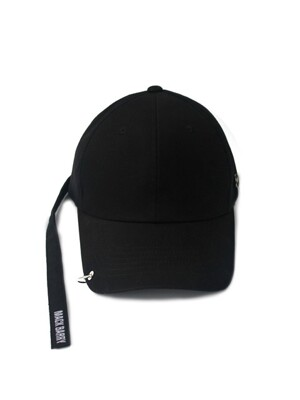 MACK LONGSTRAP CURVE RING CAP (B) BLACK