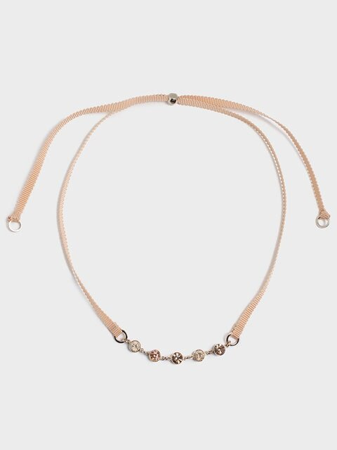 STLIGHT CHOCKER NECKLACE (beige)
