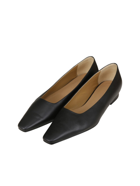 POINTED TOE FLATS (BLACK)