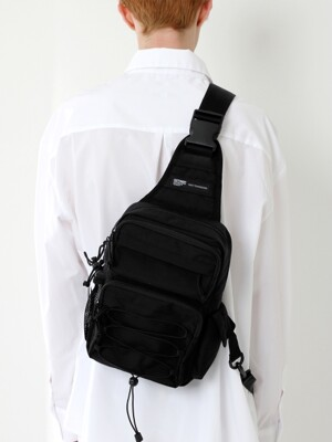 CORDURA TECH SLING BAG (ALL BLACK)
