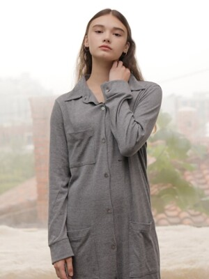 CARDIGAN ONE-PIECE_GRAY