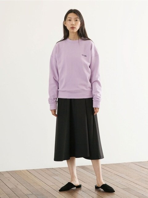 Soft Crop SweatShirts - Lavender