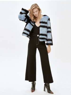 CINDY random stripe jacket [BLUE]