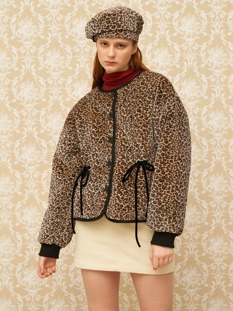 MH8 VELVET PADDING SINGLE JACKET_LEOPARD