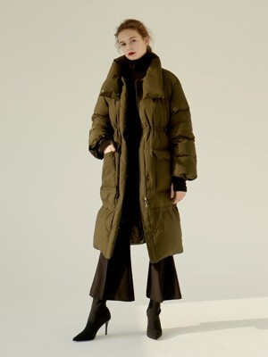 [EXCLUSIVE] 18FW ELASTRING GOOSE DOWN LONG PADDING KHAKI