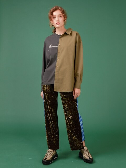 TRIPLE COLORED VELVET PANTS