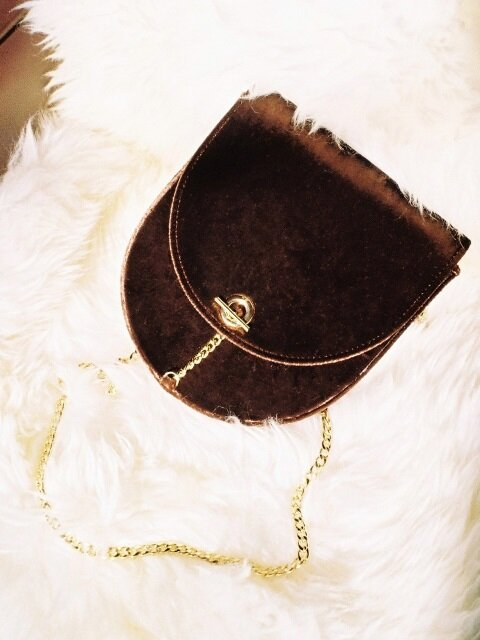 Velvet Arrondi Bag- Brown