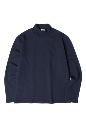 19SS MOCK NECK TEE (NAVY)