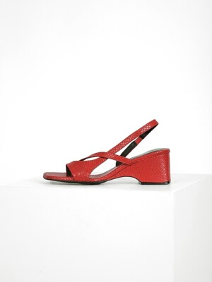 ASYMMETRY SANDAL  - RED