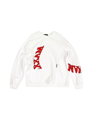 Collage Printed Sweatshirt White (Genderless)