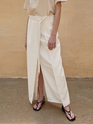 Skirt Long Wrap Ivory
