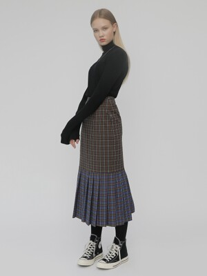 R MERMAID CHECK SKIRT