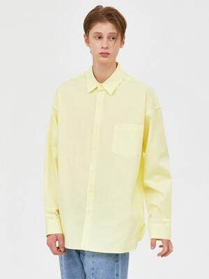 V457 MINIMAL POCKET OVERFIT SHIRTS_LIME