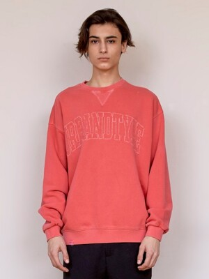 LT352_Big logo pigment Sweat shirt_Red