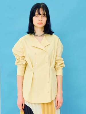 Tuck Detail Shirt  in Beige (WS0360MG1A)