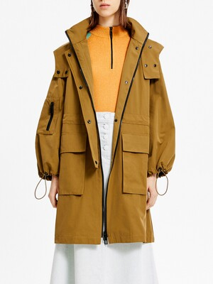 Straight khaki trench_B205AWC008KA