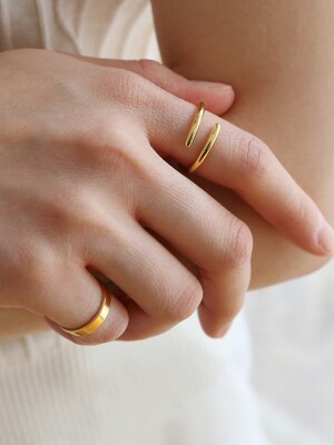 flat small ring-gold (silver925)