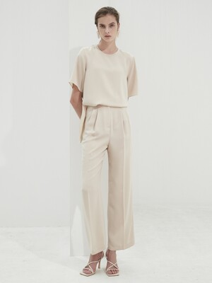 Two Pintuck Wide Pants