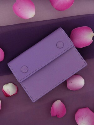 Accordion card wallet - Lilac