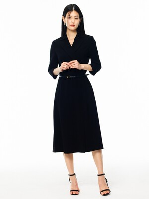 [Drama Signature] Tailored Wrap Dress