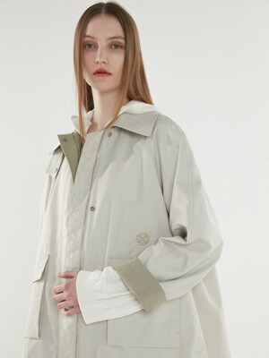 [ECO] OLMETEX PREMIUM OVERSIZED CASUAL OUTER LIGHT KHAKI (AEJU1E005K1)