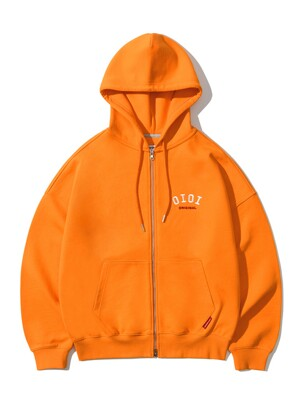 BASIC LOGO HOOD ZIPUP [ORANGE]