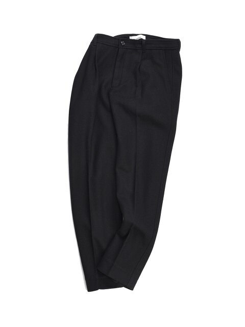 18FW STANDARD WOOL CASUAL PANTS BLACK
