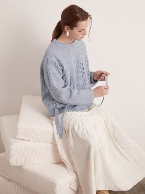 [단독] Angora Taped Knitwear- 3 COLORS