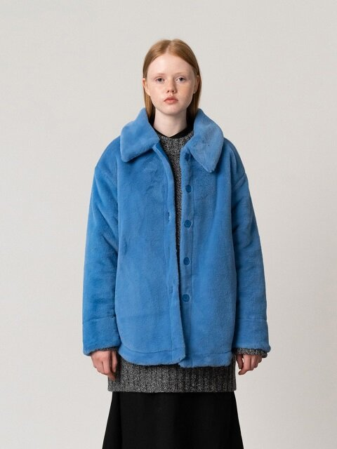 R ALL ECO FUR SHIRT_BLUE