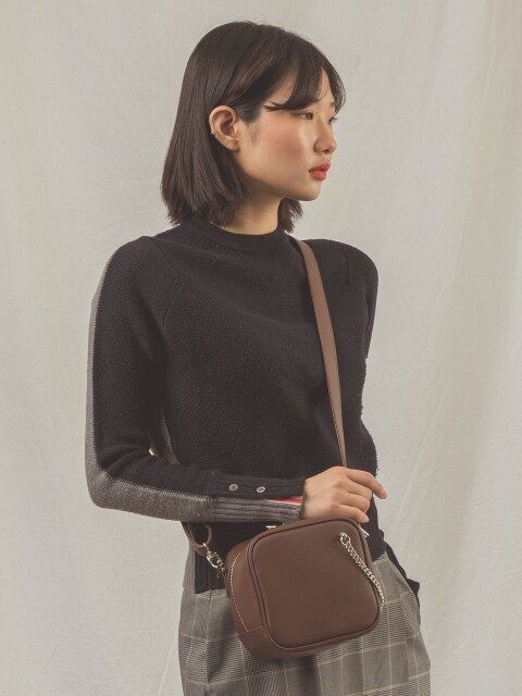 CUTO chain shoulder bag (brown)