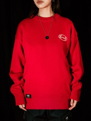 19 SS Signature Round Knit_Red