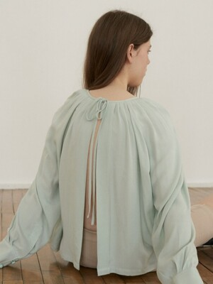 puff blouse_pale mint
