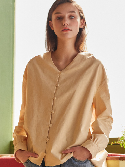 AE V-NECK BLOUSE(YELLOW)