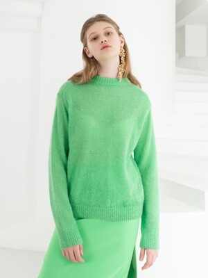 MOHAIR KNIT . BRIGHT GREEN