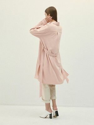PEACH silky oversize dress(IT056)