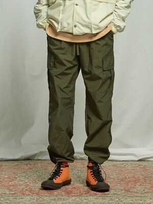 CARGO STRING PANTS _ OLIVE