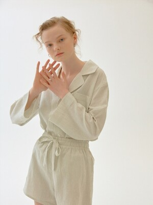 Soir Pajama Shirt, Shorts