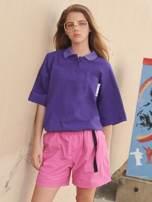 [RLOL] (TS-19307) RLOL COLLAR T-SHIRT PURPLE