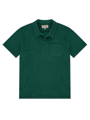 Terry Cotton Polo (emerald green)
