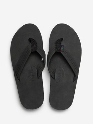[Double Layer - Black] Premier Leather With Arch Support
