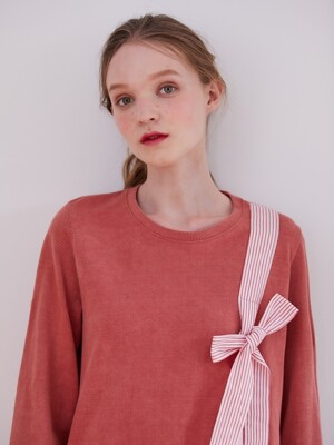 19FW PRE-FALL NATURAL WASHING PIQUE T-SHIRT_RED