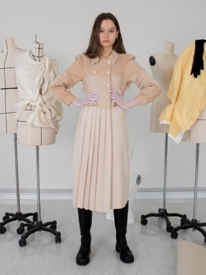 Twee dress (beige)