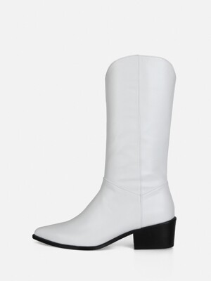 WESTERN BOOTS - WHITE