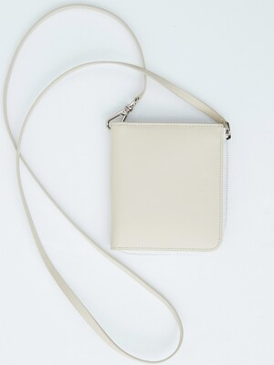 CREAM leather strap wallet(KA004)