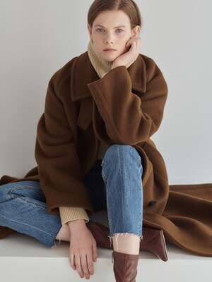 19WN wool trench coat [BR]