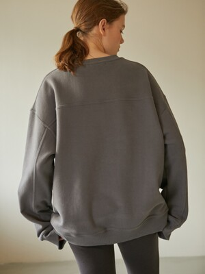 19W SOFT OVER SWEATSHIRTS (BLUE GREY)