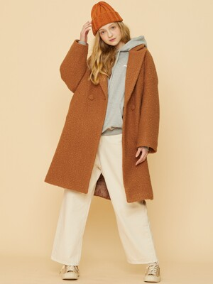 MD OVERFIT COAT(BROWN)