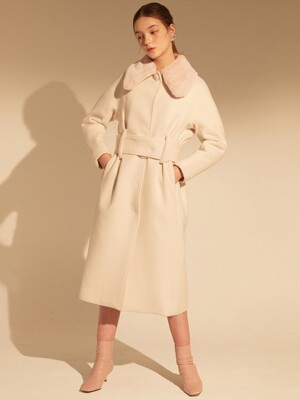 JULIY COAT 2 Emerald Merino Wool IVORY