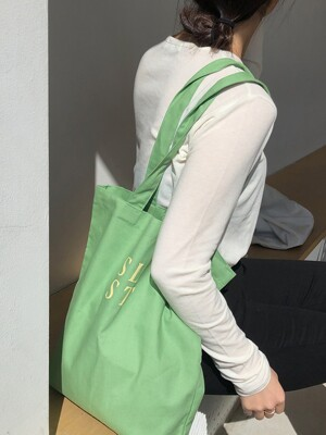 simple logo bag ( green )