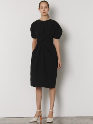 KNOT DRESS_BLACK